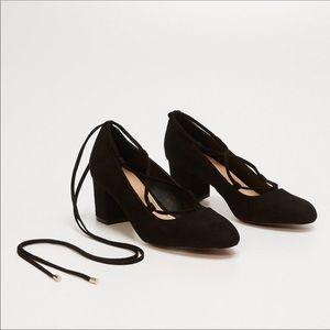 Ann Taylor Loft Black Suede Heels